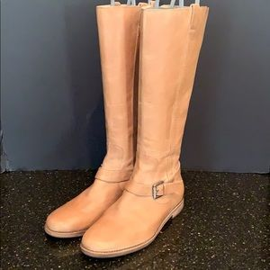 Cole Haan Tan Buckle Riding Boots